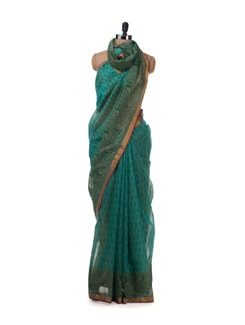Cotton Saree With All Over Buti - Saboo