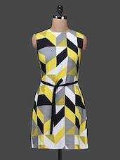 Sleeveless geometric print dress -  online shopping for Dresses