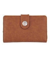 tan leatherette wallet -  online shopping for wallets