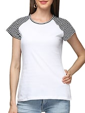white cotton regular tee -  online shopping for Tees