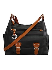 black faux leather satchel -  online shopping for Satchels