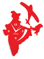 Flying Plane With India Wall Clock - By