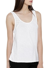 white cotton tank top -  online shopping for Tops