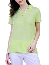 green cotton  tee -  online shopping for Tees