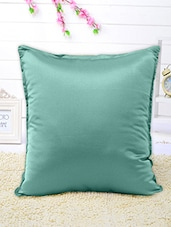 Set Of 5 Solid Turquoise Cushion Covers - By