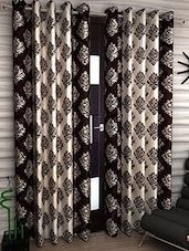 brown color, polyester door curtain -  online shopping for Curtains