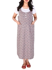 brown cotton maternity wear -  online shopping for maternity wear