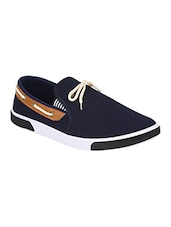 solid blue PVC moccasin -  online shopping for Moccasins