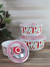 Multicolour Ceramic Air Tight Chilly Jar Set - By