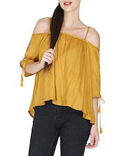 yellow viscose top -  online shopping for Tops