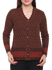 brown acrylic cardigan -  online shopping for Cardigans