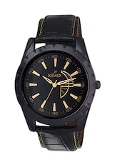 black color, analog watch with day and date display -  online shopping for Analog Watches