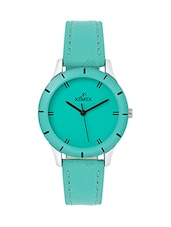 solid green leatherette wrist watch -  online shopping for Wrist watches