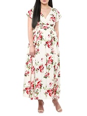 multi colored crepe maxi dress -  online shopping for Dresses