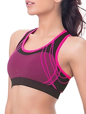 pink polyester sports bra -  online shopping for bra