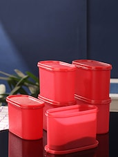 red plastic container set -  online shopping for Containers
