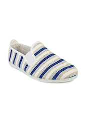 blue and white canvas plimsoll -  online shopping for Casual Shoes