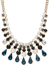 Multicolored Metallic Embellished Necklace - By