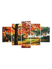 Multi Colored Paper Painting Set Of 5 - By