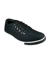 black Canvas lace up sneaker -  online shopping for Sneakers