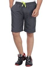 grey cotton short -  online shopping for Shorts
