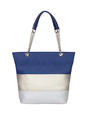 Multi leatherette colorblock handbag -  online shopping for handbags