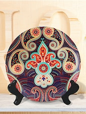Multicolour  paisley ceramic plastic plate -  online shopping for Wall Hanging