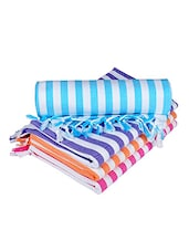 multi colored cotton bath towels set of 4 -  online shopping for towels