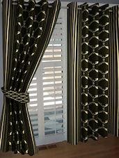 Elegance Green Geometric  Long Door Curtain Set Of 1 - By
