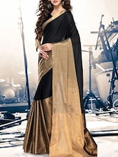 black cotton saree -  online shopping for Sarees