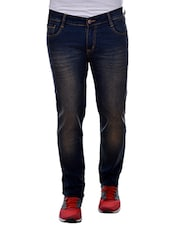 blue cotton washed jeans -  online shopping for Jeans