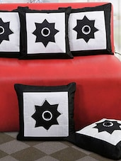 Set Of 5 Embroidery Cushion Cover - By