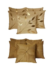 Set Of 10 Cream Floral  Cushion Cover - By
