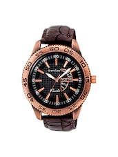 brown leather analog watch -  online shopping for Analog Watches