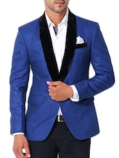 blue cotton casual blazer -  online shopping for Casual Blazer
