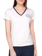 white cotton tee -  online shopping for Tees