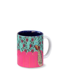 Peacock Plume Coffee Mug - India Circus