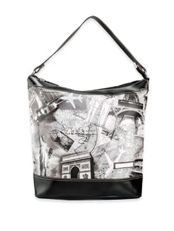 black and white travel the world bag - Lino Perros