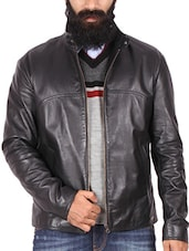 black leather casual jacket -  online shopping for Casual Jacket