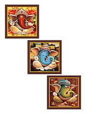 Ganesha Art Paintings - Set Of 3 - By