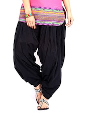 black cotton patiyala salwars -  online shopping for Salwars