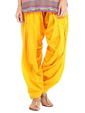 yellow cotton salwars -  online shopping for Salwars
