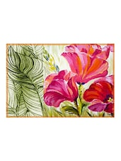 Leaf Designs Pink & Green Table Mat - Set Of 6 - By