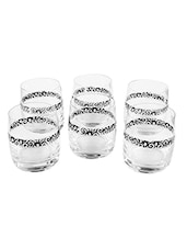 Bohemia Crystal Ideal whiskey glass Black (290ml) set of 6 pcs -  online shopping for Glass Sets
