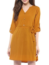 solid mustard dress -  online shopping for Dresses