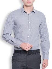 navy blue polyester formal shirt -  online shopping for formal shirts