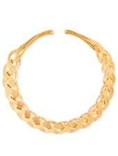 Gold Metallic Toned Necklace - By