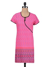 Pink Cotton Summer Kurta - By