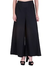 black crepe palazzos -  online shopping for Palazzos