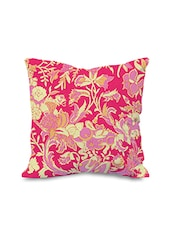 "Moodybee Forest Pink Digital Cotton Cushion Cover-16""x16"" - By"